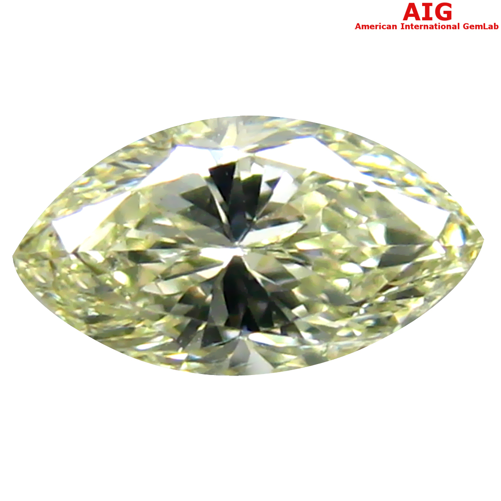 0.34 ct AIG CERTIFIED MIND-BOGGLING VVS2 CLARITY MARQUISE CUT (6 X 3 MM) FANCY YELLOW DIAMOND STONE