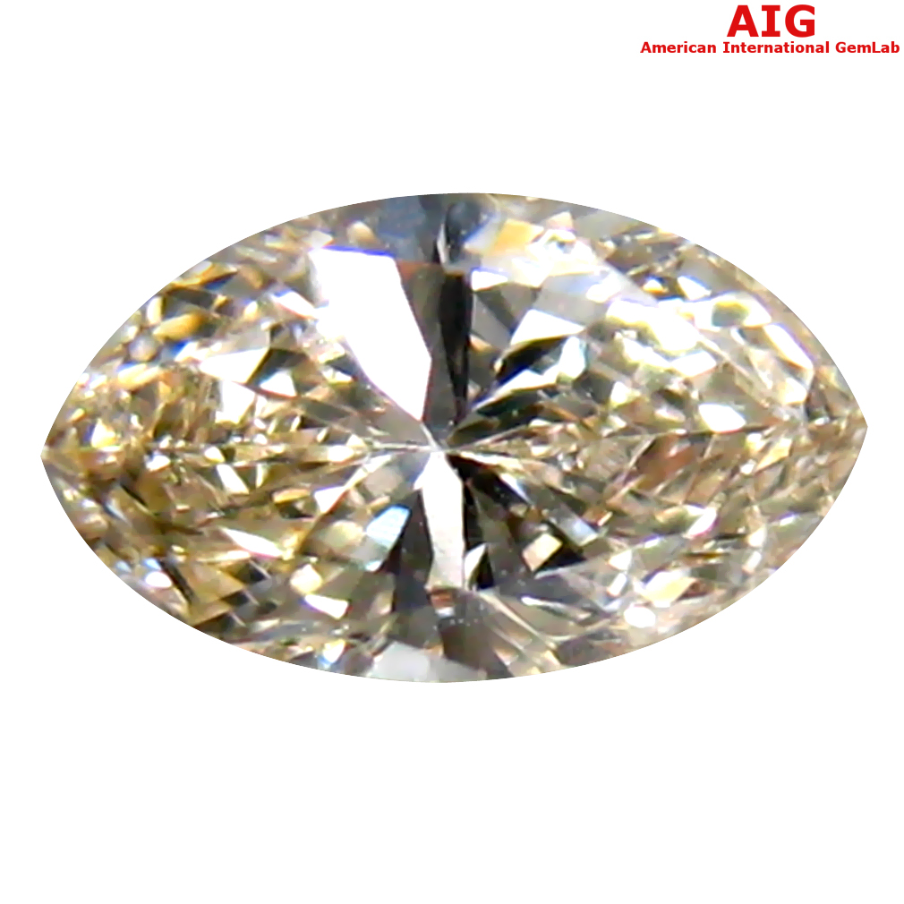 0.34 ct AIG CERTIFIED ATTRACTIVE VS1 CLARITY MARQUISE CUT (6 X 4 MM) FANCY YELLOW DIAMOND STONE