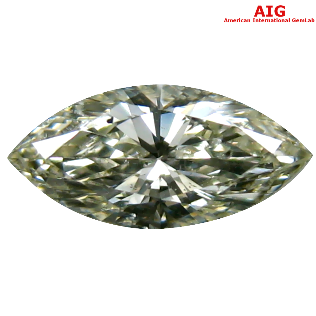 0.32 ct AIG CERTIFIED UNBELIEVABLE SI2 CLARITY MARQUISE CUT (7 X 3 MM) FANCY LIGHT YELLOW DIAMOND STONE