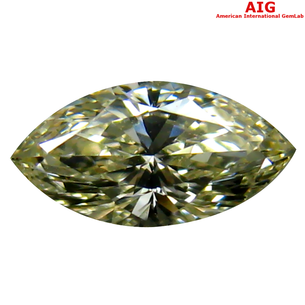 0.32 ct AIG CERTIFIED VERY GOOD VS2 CLARITY MARQUISE CUT (7 X 3 MM) FANCY LIGHT YELLOW DIAMOND STONE