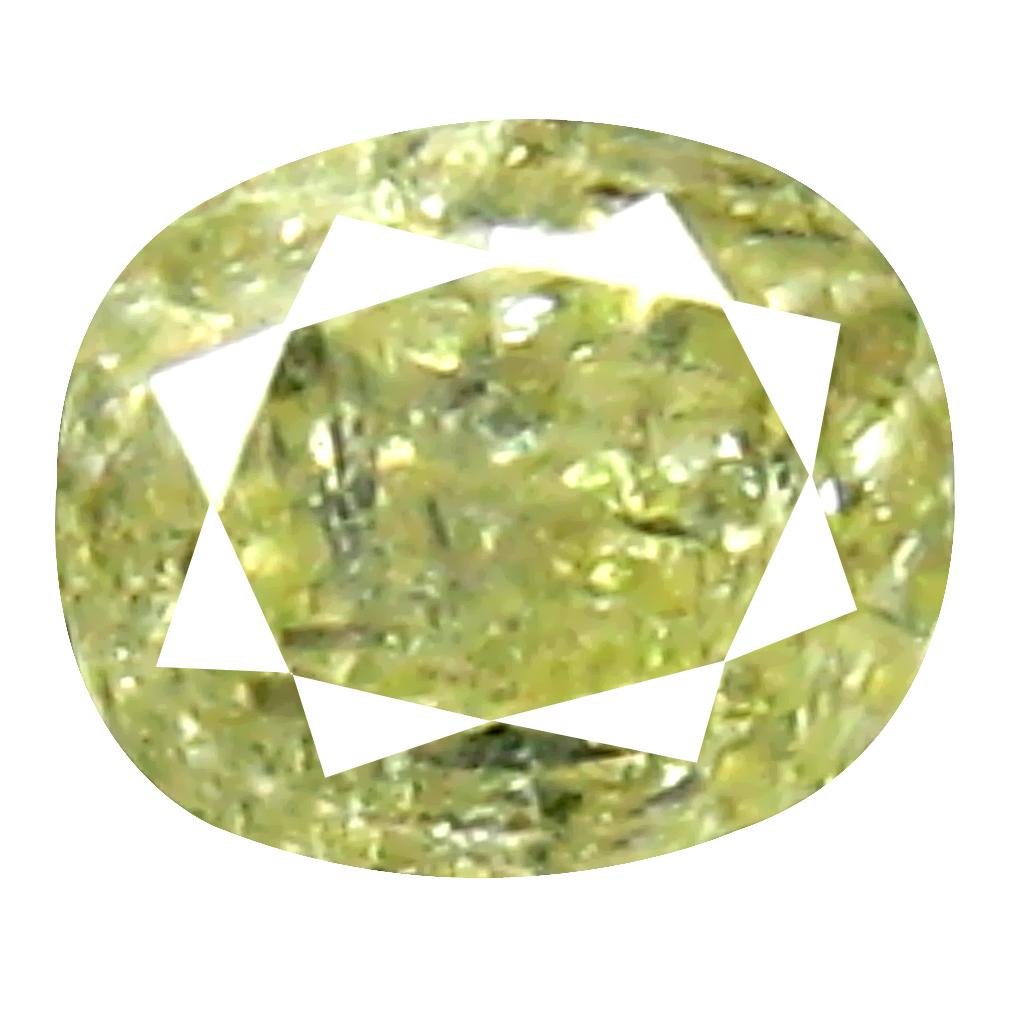 0.14 ct Fabulous Oval Cut (3 x 3 mm) 100% Natural (Un-Heated) Fancy Yellow Diamond Natural Gemstone