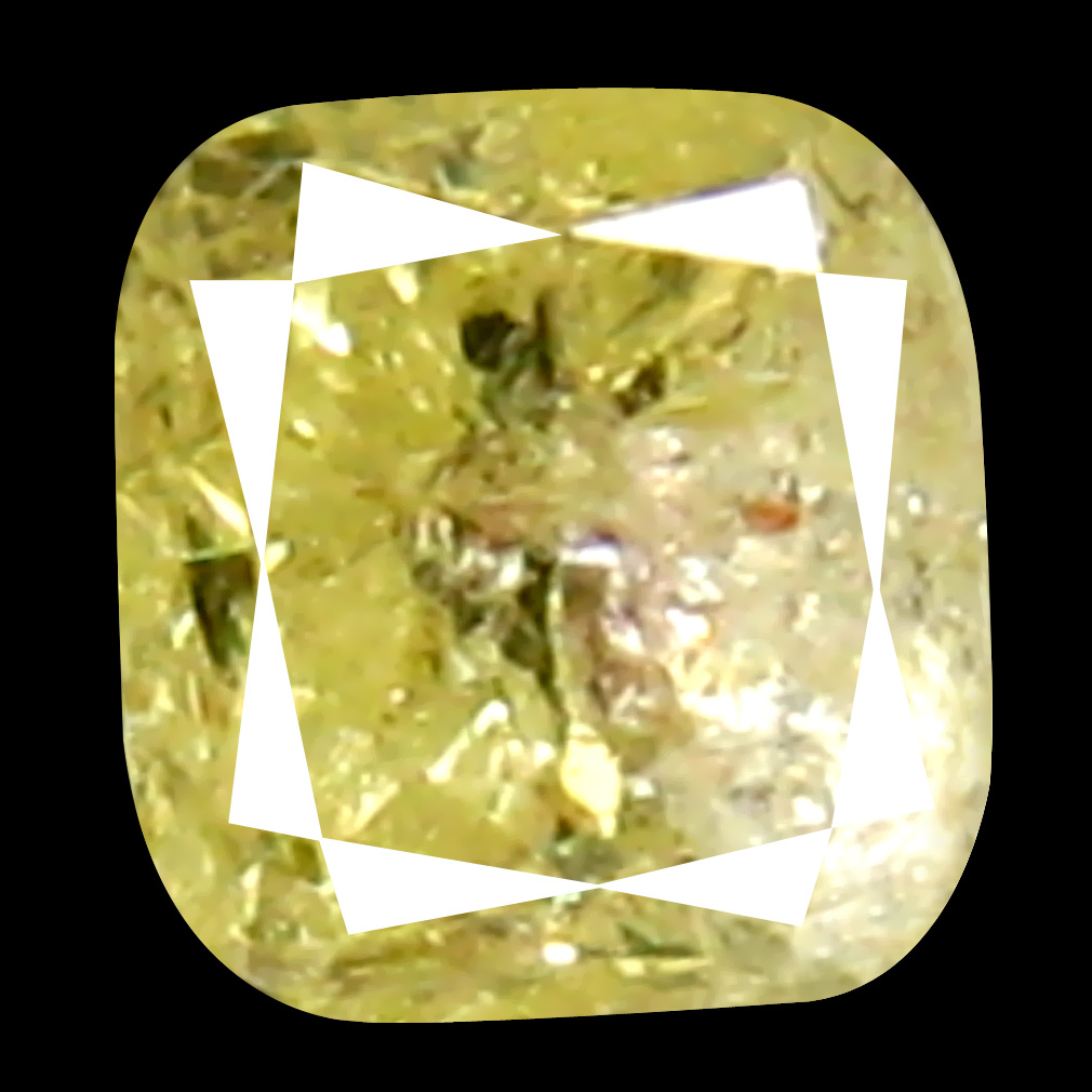 0.13 ct Premium Cushion Cut (3 x 3 mm) 100% Natural (Un-Heated) Fancy Yellow Diamond Natural Gemstone