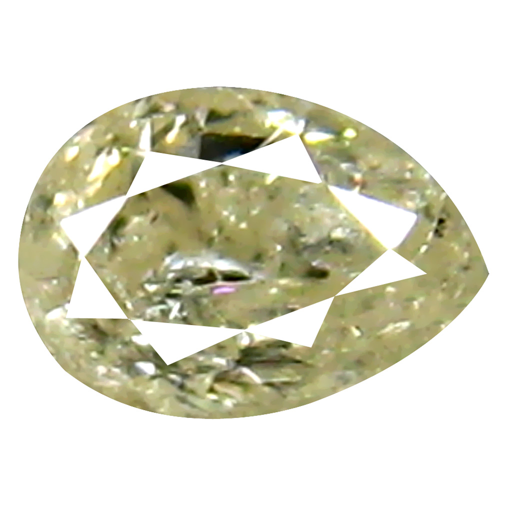 0.16 ct Amazing Pear Cut (4 x 3 mm) 100% Natural (Un-Heated) Fancy White Diamond Natural Gemstone