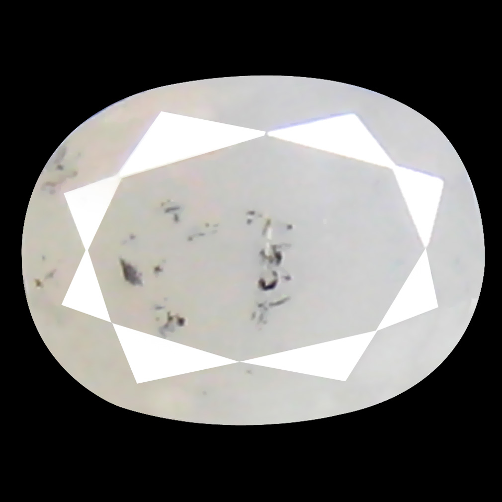 0.16 ct Five-star Oval Cut (4 x 3 mm) 100% Natural (Un-Heated) Fancy White Diamond Natural Gemstone