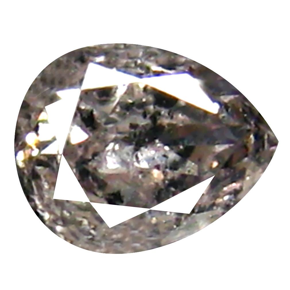 0.14 ct Pleasant Pear Cut (4 x 3 mm) 100% Natural (Un-Heated) Fancy White Diamond Natural Gemstone