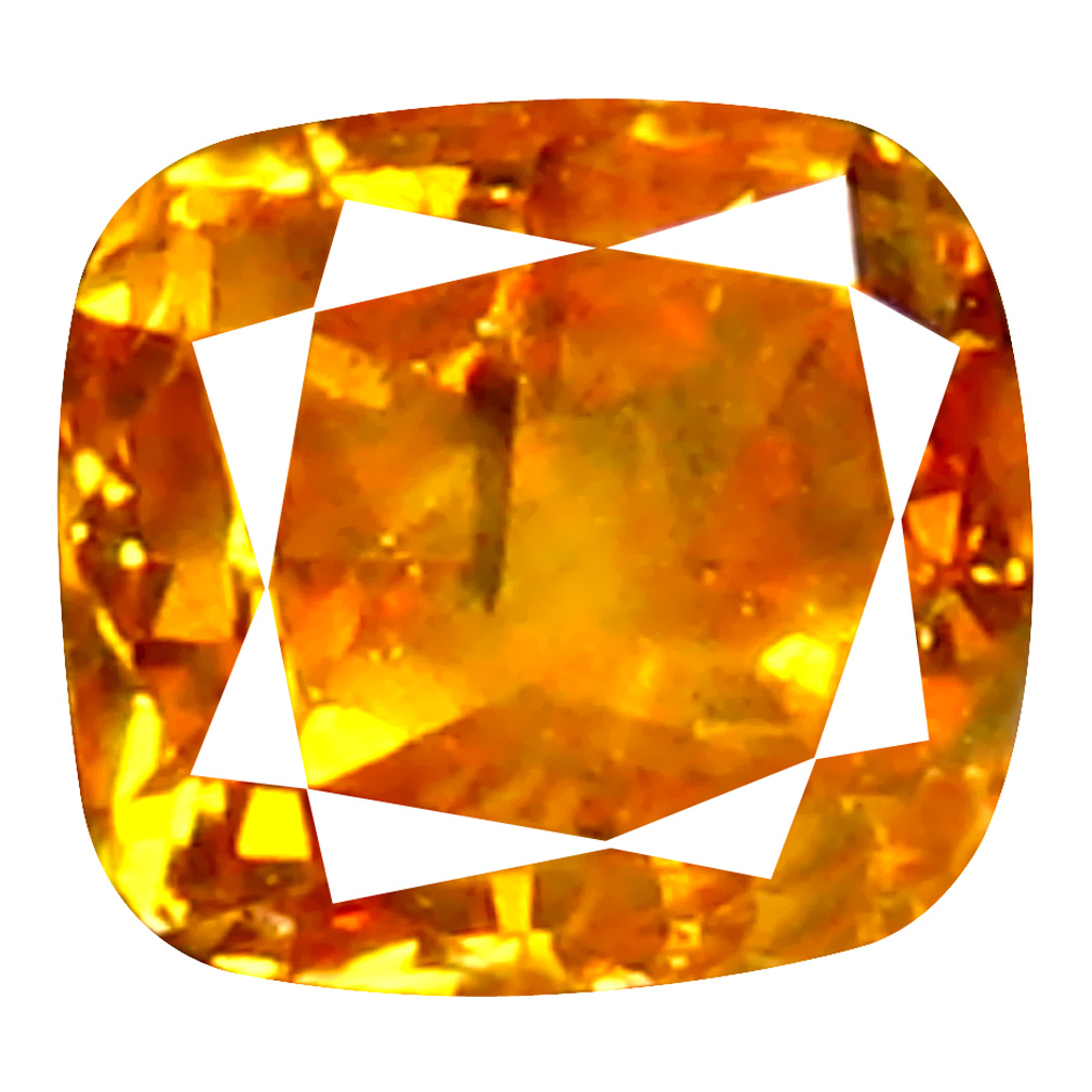 0.11 ct Spectacular Cushion Cut (3 x 3 mm) 100% Natural (Un-Heated) Orange Yellow Diamond Natural Gemstone