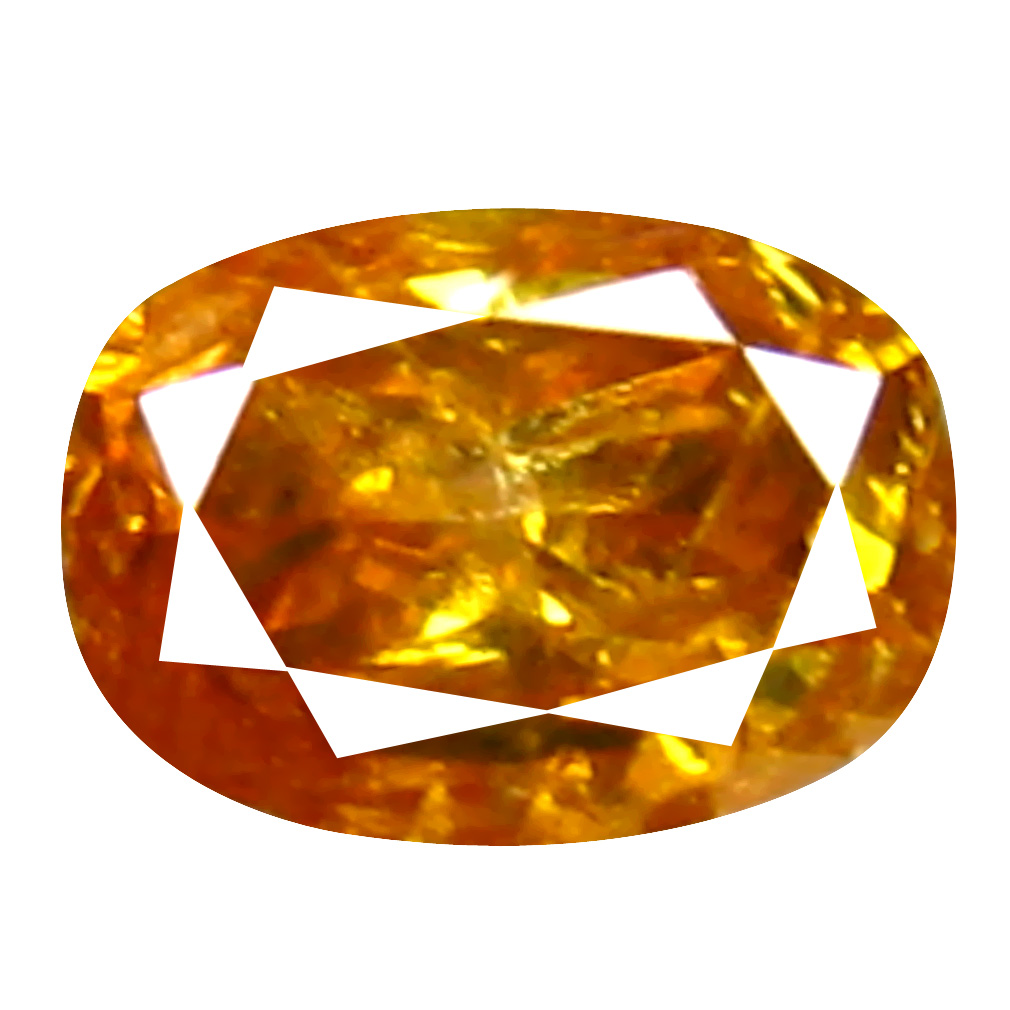 0.13 ct Attractive Cushion Cut (3 x 2 mm) 100% Natural (Un-Heated) Orange Yellow Diamond Natural Gemstone