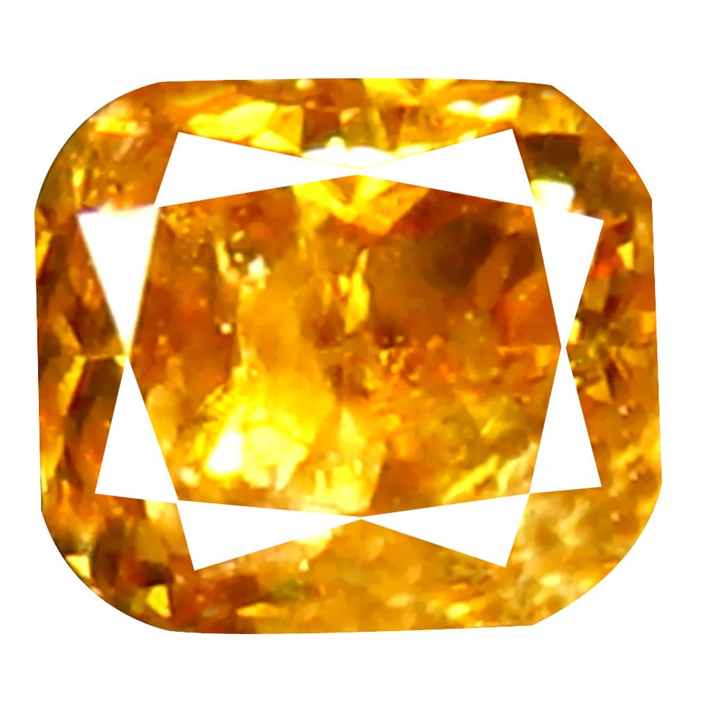 0.16 ct Spectacular Cushion Cut (3 x 3 mm) 100% Natural (Un-Heated) Brownish Orange Diamond Natural Gemstone