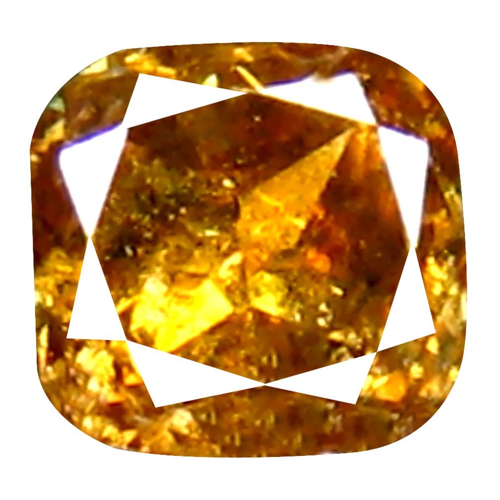 0.11 ct Flashing Cushion Cut (3 x 3 mm) 100% Natural (Un-Heated) Brownish Orange Diamond Natural Gemstone