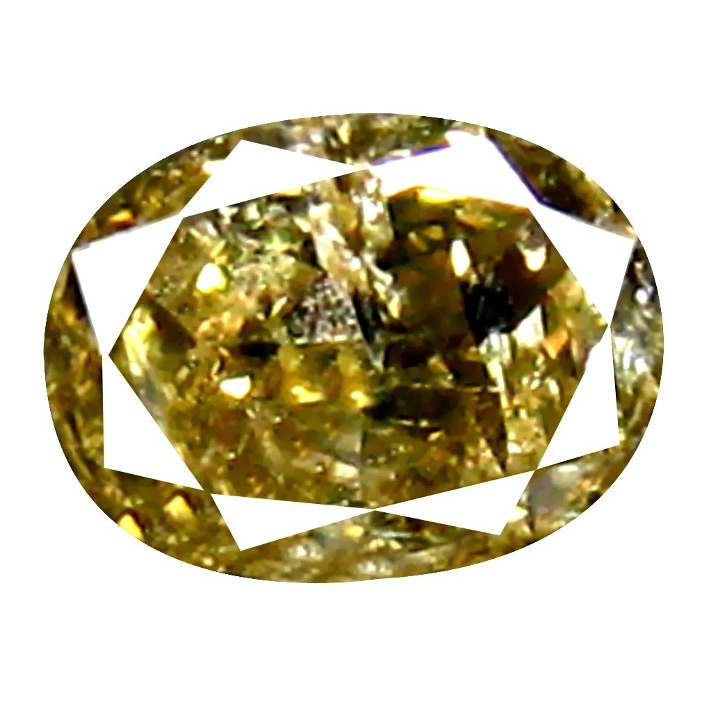 0.16 ct Five-star Oval Cut (4 x 3 mm) 100% Natural (Un-Heated) Fancy Brown Diamond Natural Gemstone