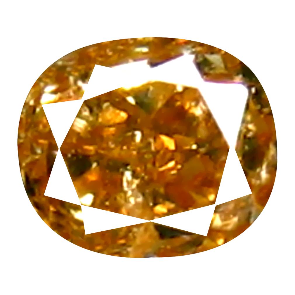 0.12 ct Pleasant Cushion Cut (3 x 2 mm) 100% Natural (Un-Heated) Fancy Brown Diamond Natural Gemstone