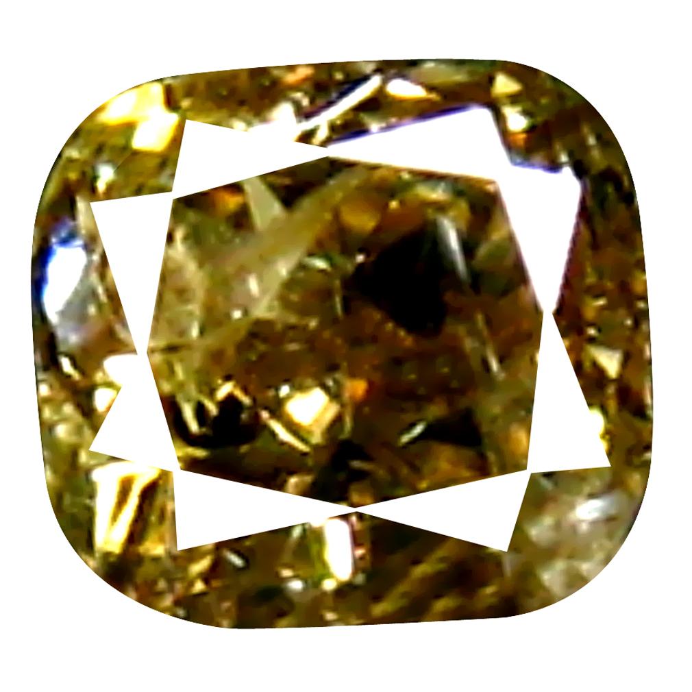 0.10 ct Superior Cushion Cut (3 x 2 mm) 100% Natural (Un-Heated) Fancy Brown Diamond Natural Gemstone