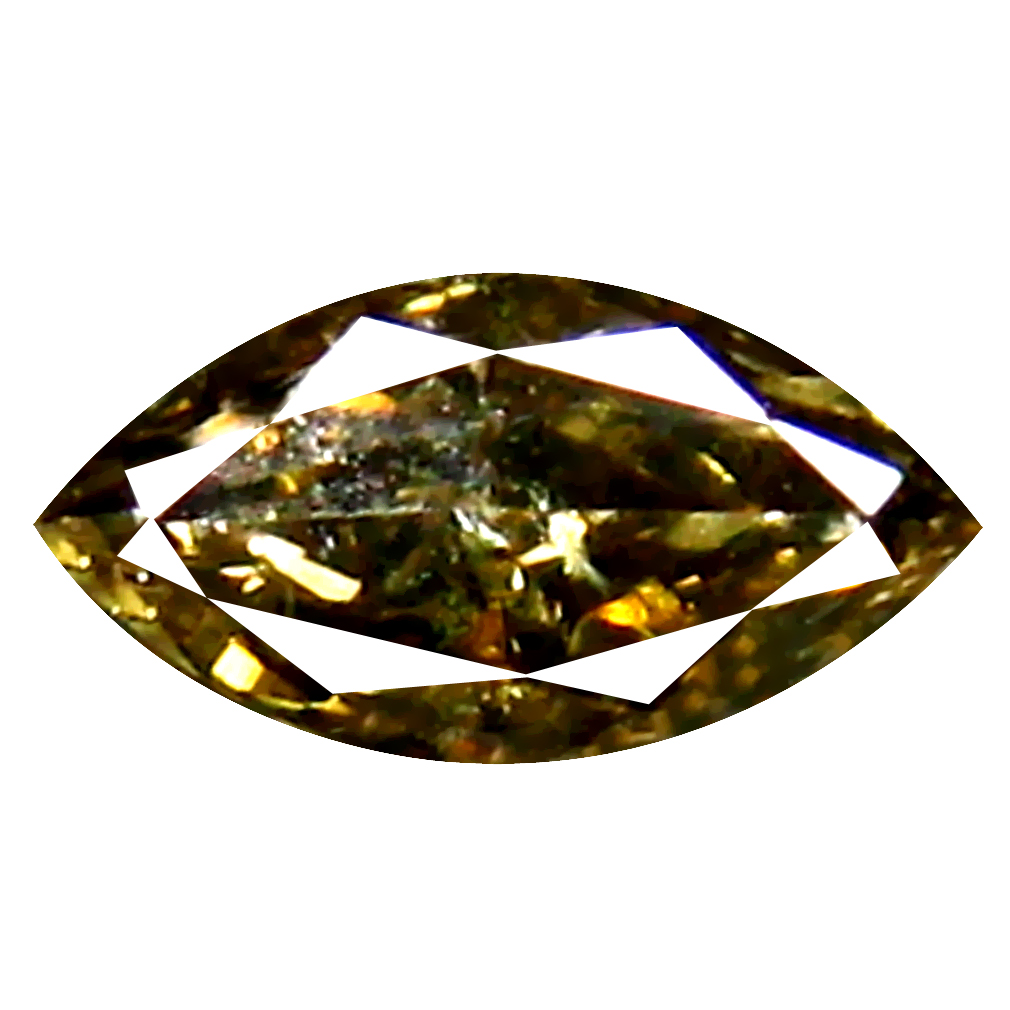 0.12 ct Five-star Marquise Cut (5 x 2 mm) 100% Natural (Un-Heated) Fancy Brown Diamond Natural Gemstone