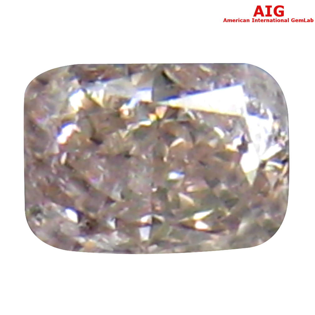 0.12 ct AIG CERTIFIED EYE-CATCHING CUSHION CUT (3 X 2 MM) UNHEATED / UNTREATED FANCY PINK DIAMOND LOOSE STONE
