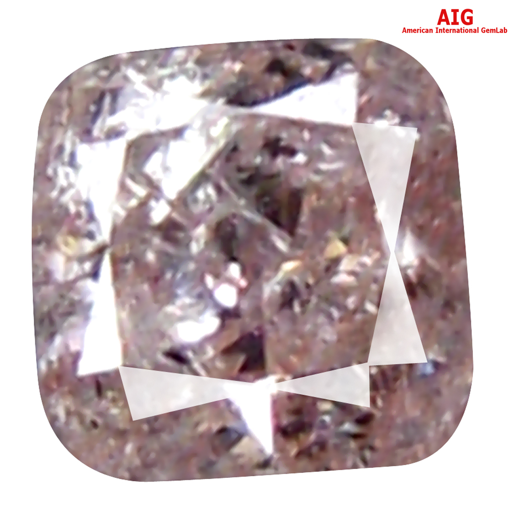 0.07 ct AIG CERTIFIED LOVELY CUSHION CUT (2 X 2 MM) UNHEATED / UNTREATED FANCY PINK DIAMOND LOOSE STONE