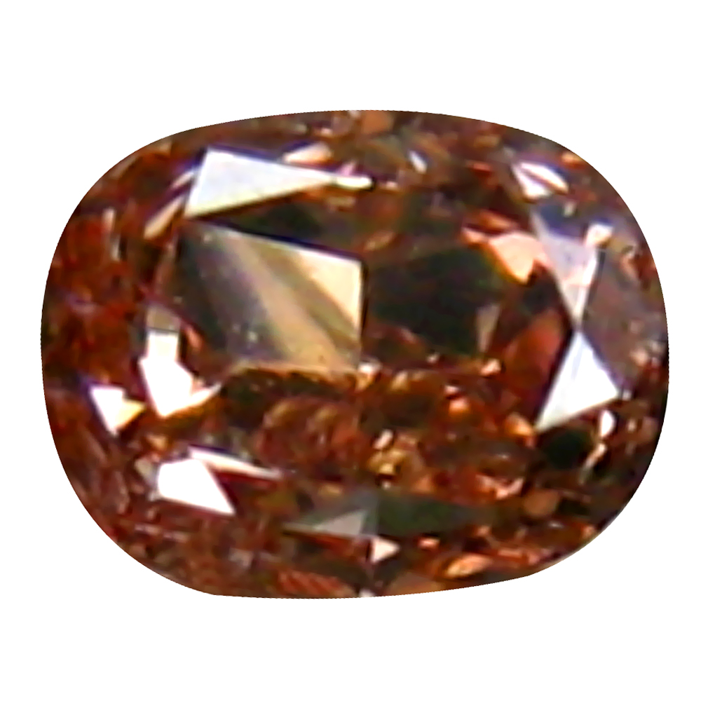 0.07 ct AIG CERTIFIED OUTSTANDING OVAL CUT (2 X 2 MM) UNHEATED / UNTREATED ORANGE PINK DIAMOND LOOSE STONE