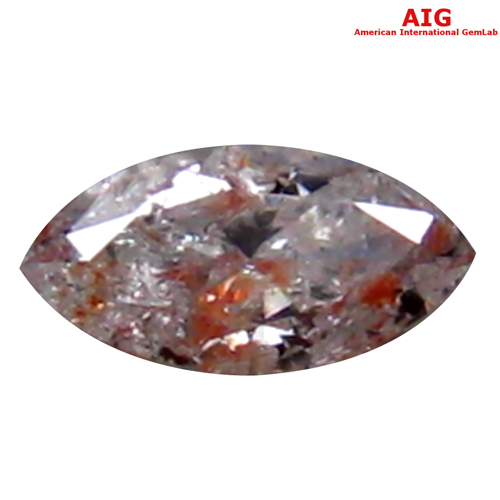 0.07 ct AIG CERTIFIED INCOMPARABLE MARQUISE CUT (4 X 2 MM) UNHEATED / UNTREATED FANCY LIGHT PINK DIAMOND LOOSE STONE