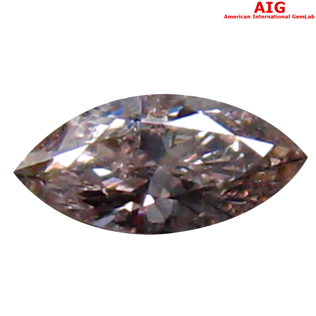 0.10 ct AIG CERTIFIED ASTONISHING MARQUISE CUT (5 X 2 MM) UNHEATED / UNTREATED FANCY LIGHT PINK DIAMOND LOOSE STONE