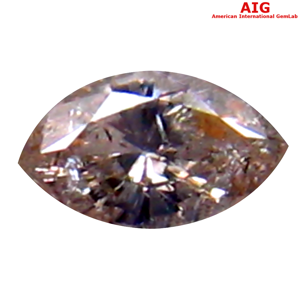 0.08 ct AIG CERTIFIED GORGEOUS MARQUISE CUT (4 X 2 MM) UNHEATED / UNTREATED FANCY LIGHT PINK DIAMOND LOOSE STONE