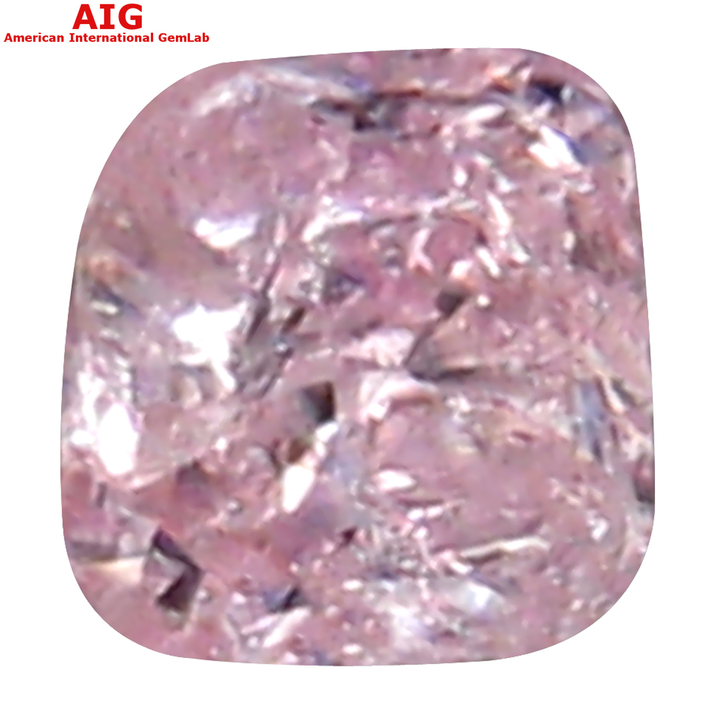 0.08 ct AIG Certified Outstanding Cushion Cut (3 x 2 mm) 100% Natural (Un-Heated) Fancy Pink Diamond Loose Stone