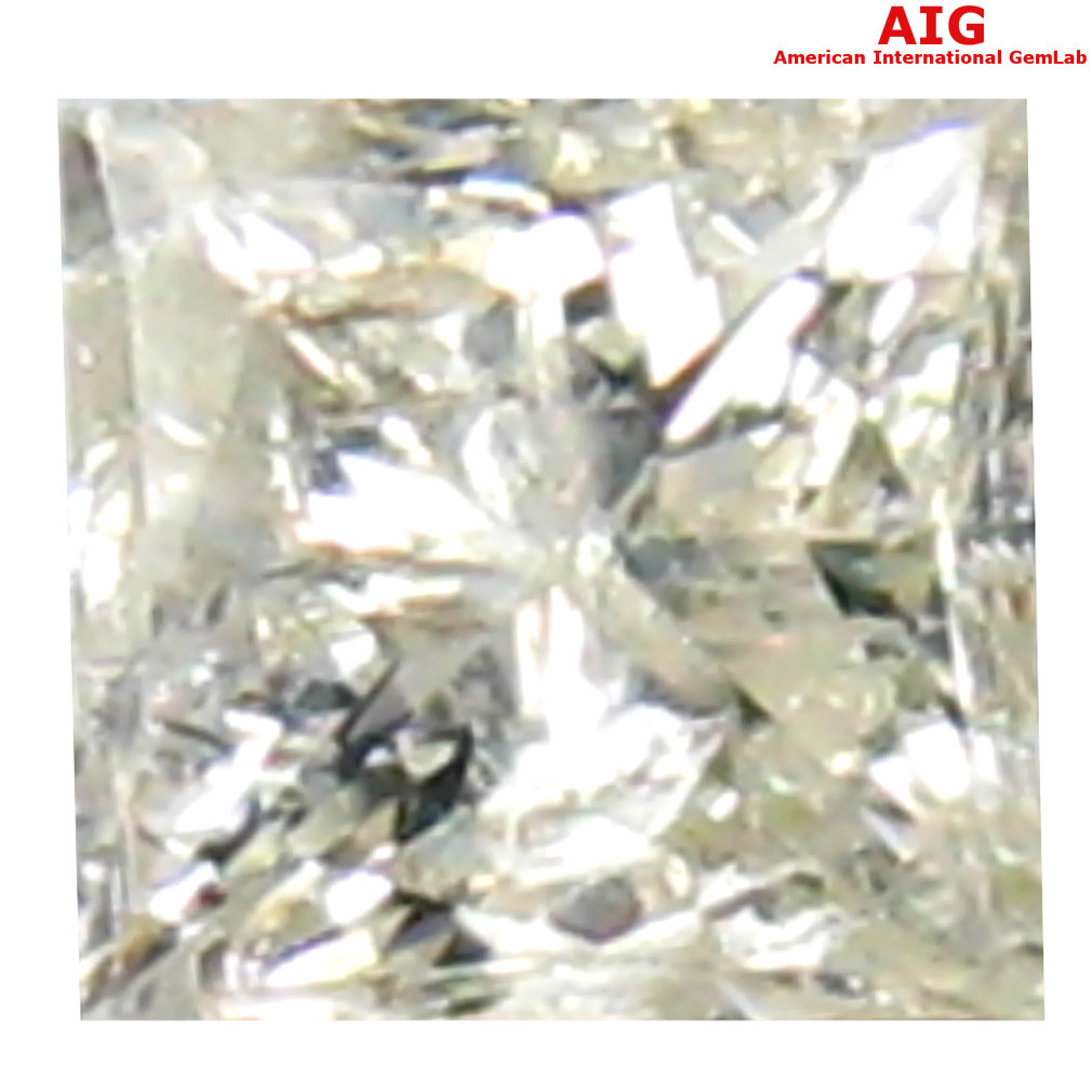 0.18 ct AIG CERTIFIED MESMERIZING PRINCESS SHAPE (3 X 3 MM) FANCY LIGHT YELLOW DIAMOND NATURAL GEMSTONE