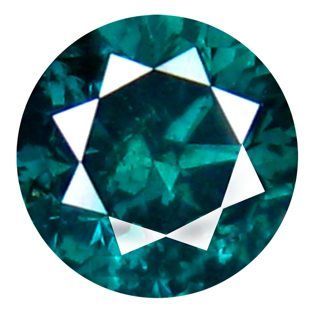 0.32 ct AAA GRADE MIND-BOGGLING ROUND CUT (4 X 4 MM) 100% NATURAL GREENISH BLUE DIAMOND GEMSTONE