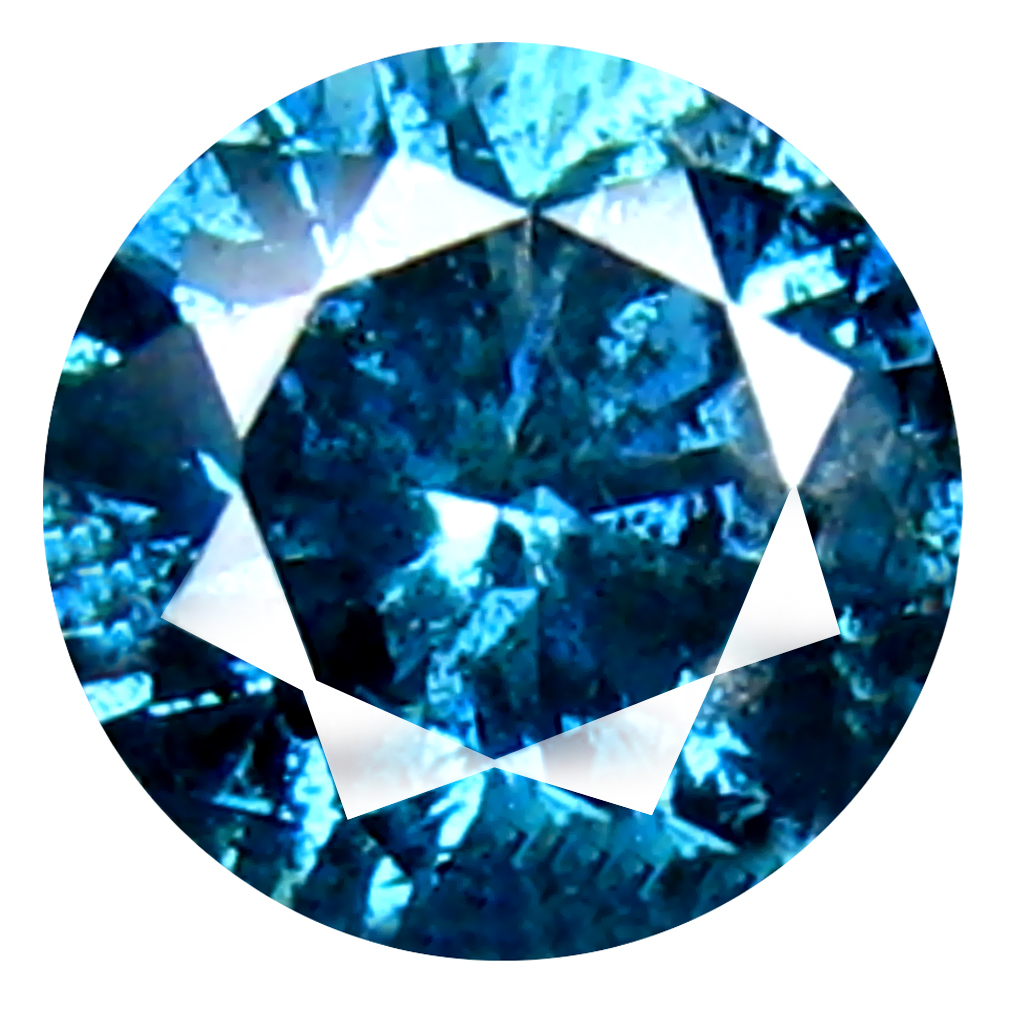 0.33 ct AAA GRADE INCOMPARABLE ROUND CUT (4 X 4 MM) 100% NATURAL VIVID BLUE DIAMOND GEMSTONE