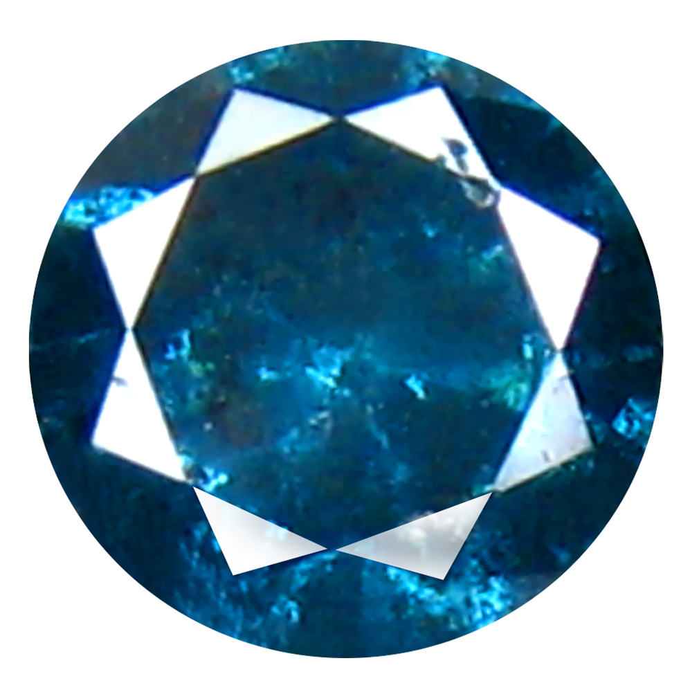 0.31 ct AAA GRADE TERRIFIC ROUND CUT (4 X 4 MM) 100% NATURAL VIVID BLUE DIAMOND GEMSTONE