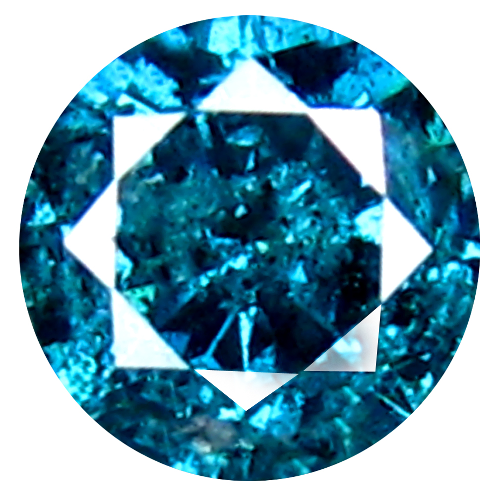 0.26 ct AAA GRADE UNBELIEVABLE ROUND CUT (4 X 4 MM) 100% NATURAL VIVID BLUE DIAMOND GEMSTONE
