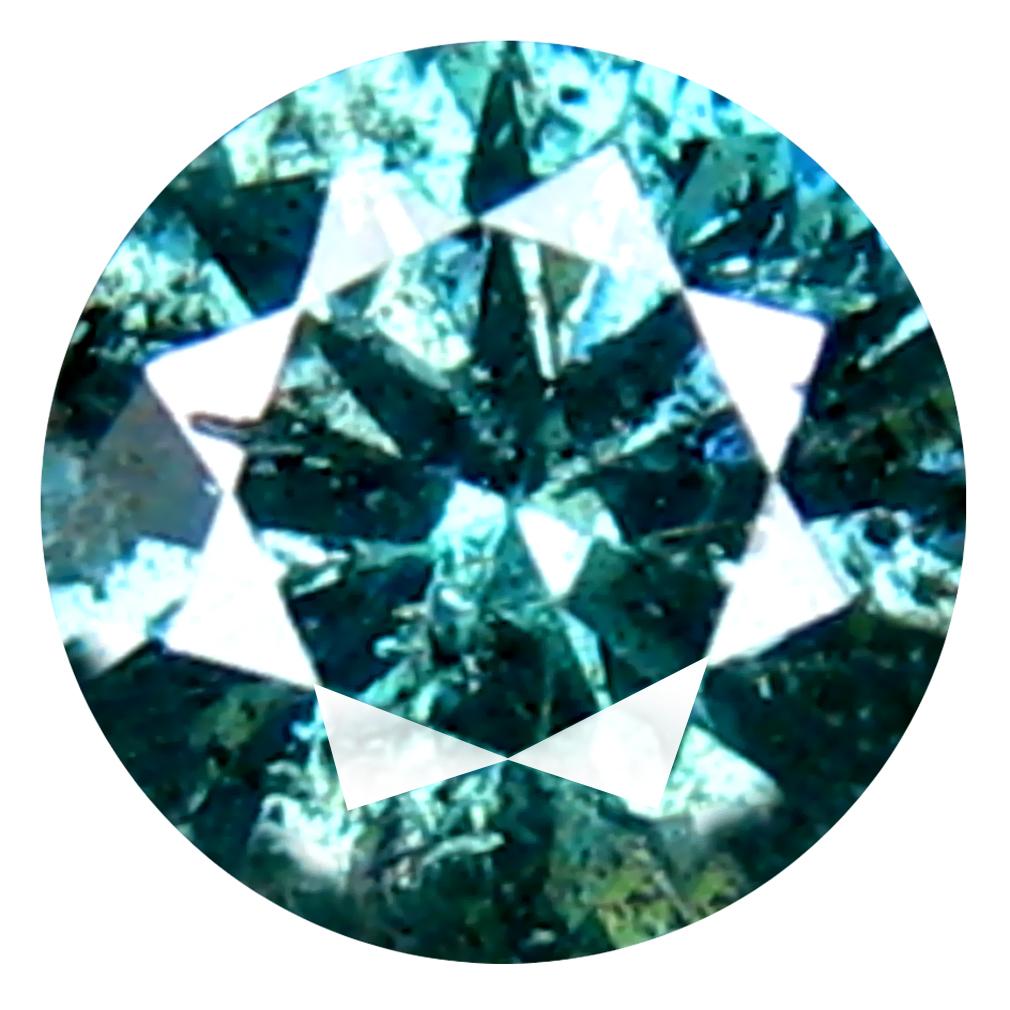 0.26 ct AAA GRADE FAIR ROUND CUT (4 X 4 MM) 100% NATURAL VIVID BLUE DIAMOND GEMSTONE