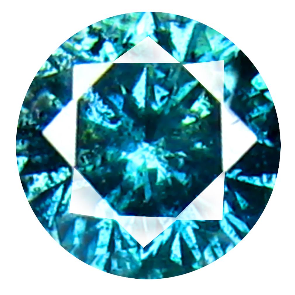 0.24 ct AAA GRADE BEST ROUND CUT (4 X 4 MM) 100% NATURAL VIVID BLUE DIAMOND GEMSTONE