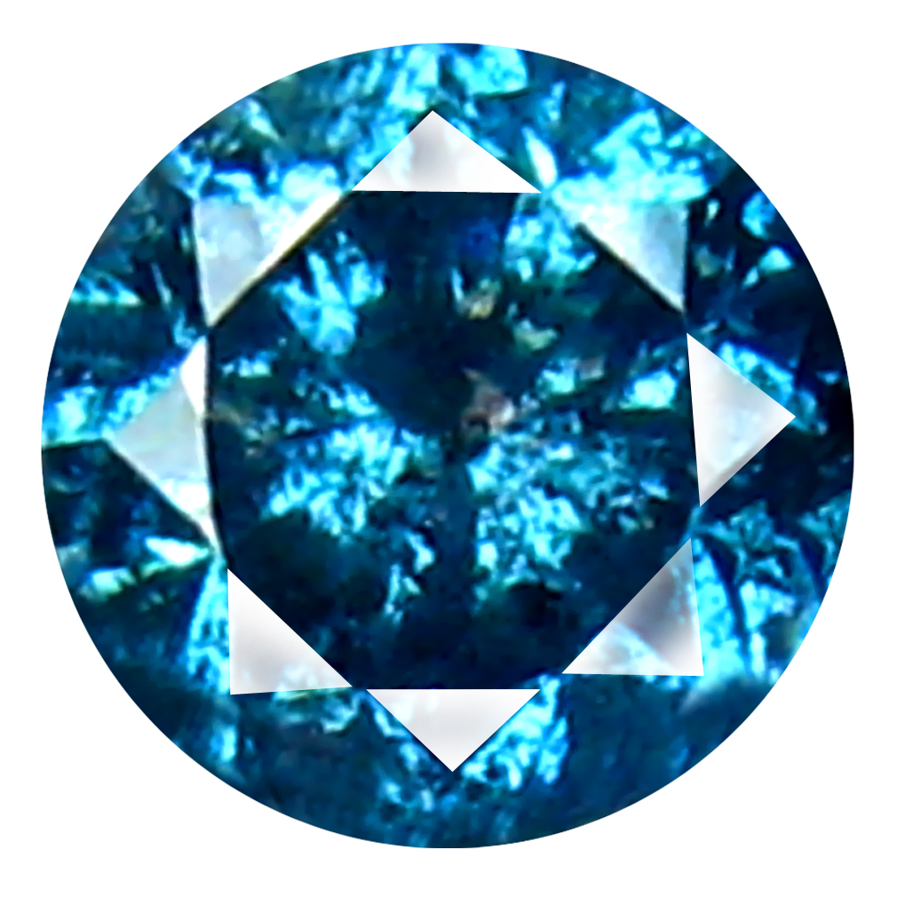 0.25 ct AAA GRADE VERY GOOD ROUND CUT (4 X 4 MM) 100% NATURAL VIVID BLUE DIAMOND GEMSTONE