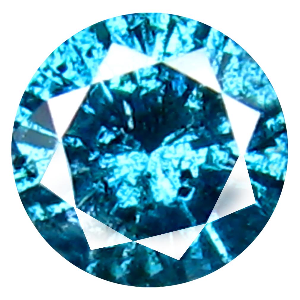 0.23 ct AAA GRADE ELEGANT ROUND CUT (4 X 4 MM) 100% NATURAL VIVID BLUE DIAMOND GEMSTONE