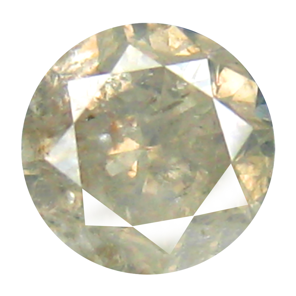 0.36 ct MIND-BOGGLING ROUND CUT (4 X 4 MM) CONGO COLORLESS DIAMOND NATURAL GEMSTONE