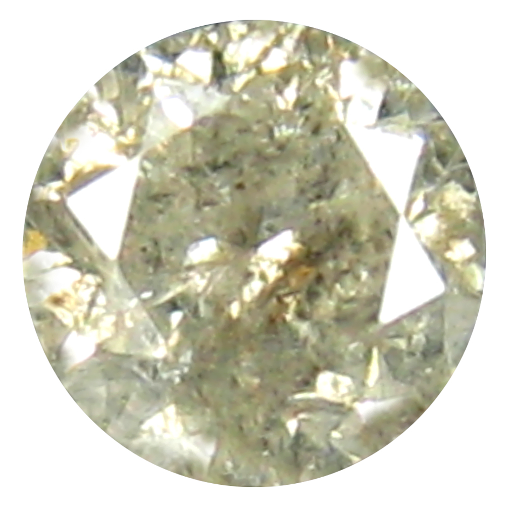 0.45 ct EYE-CATCHING ROUND CUT (4 X 4 MM) CONGO COLORLESS DIAMOND NATURAL GEMSTONE