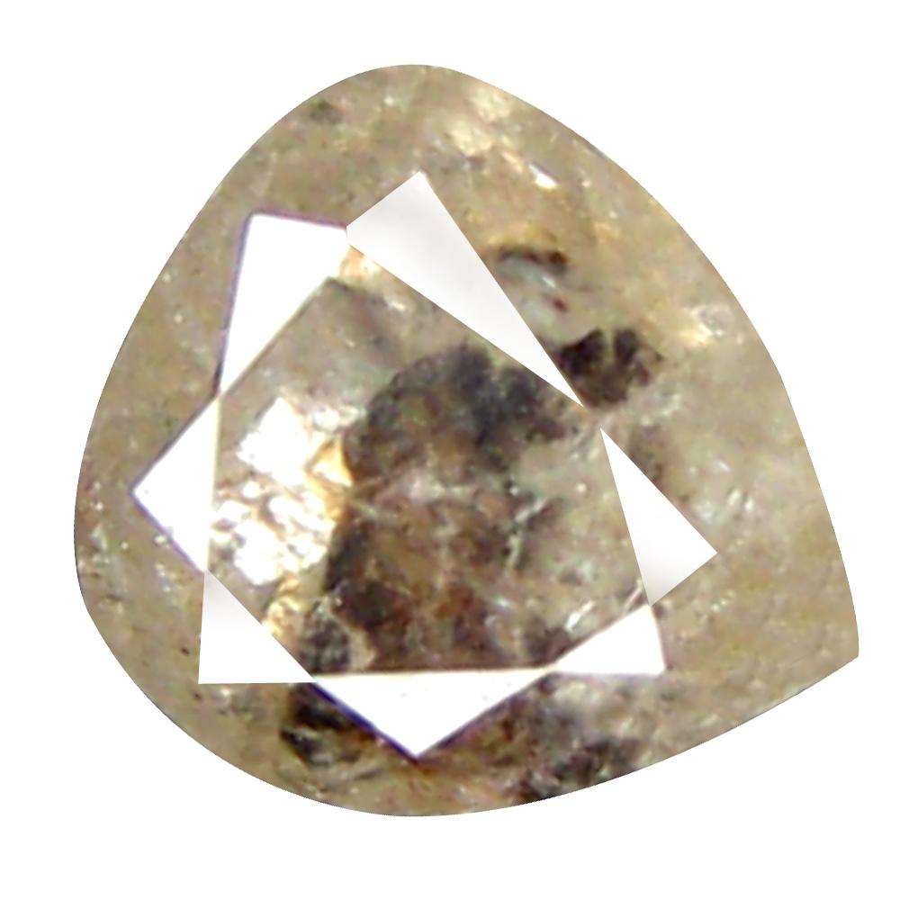 0.60 ct TOPNOTCH PEAR CUT (5 X 5 MM) CONGO FANCY PINK DIAMOND NATURAL GEMSTONE