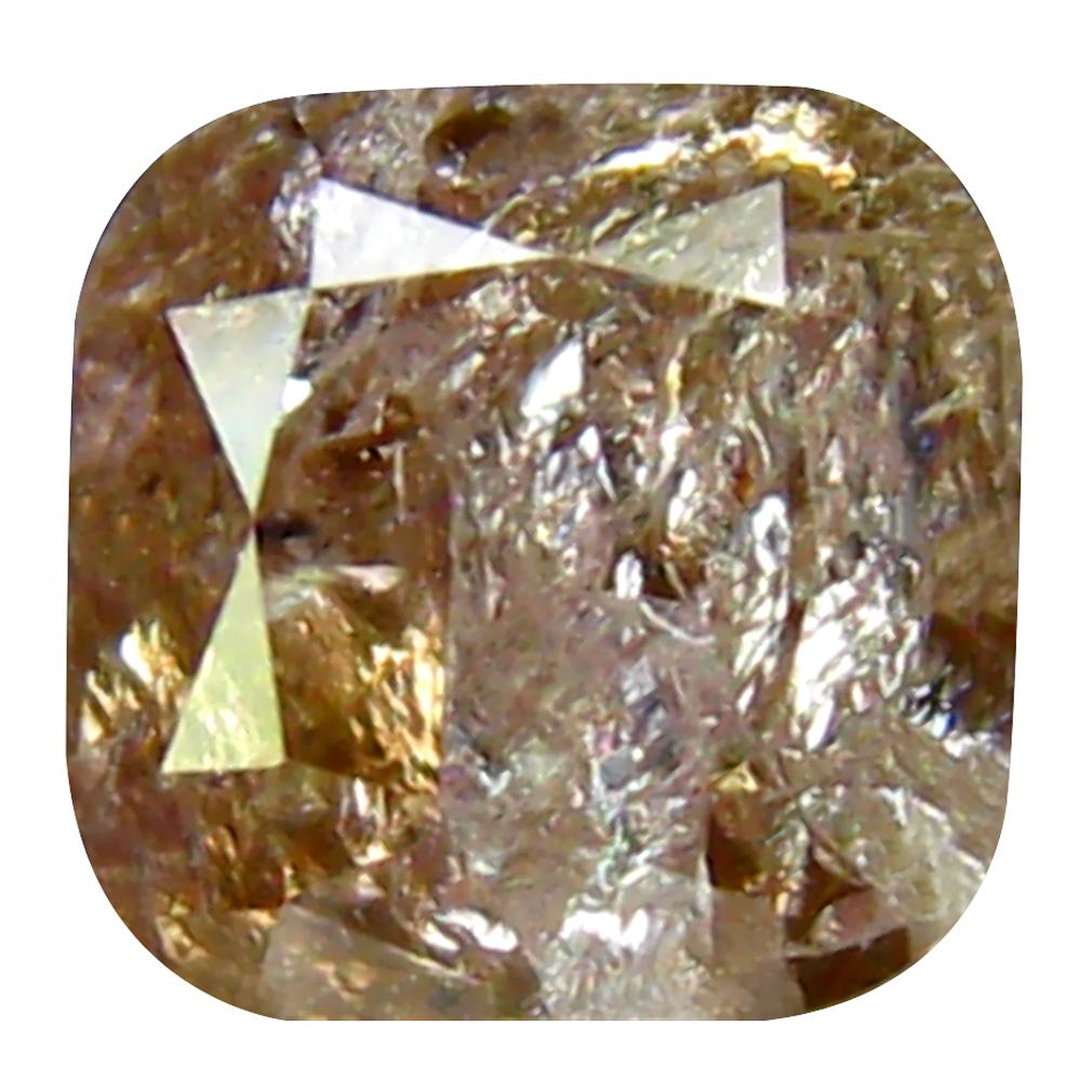 0.72 ct OUTSTANDING CUSHION CUT (4 X 4 MM) CONGO FANCY PINK DIAMOND NATURAL GEMSTONE