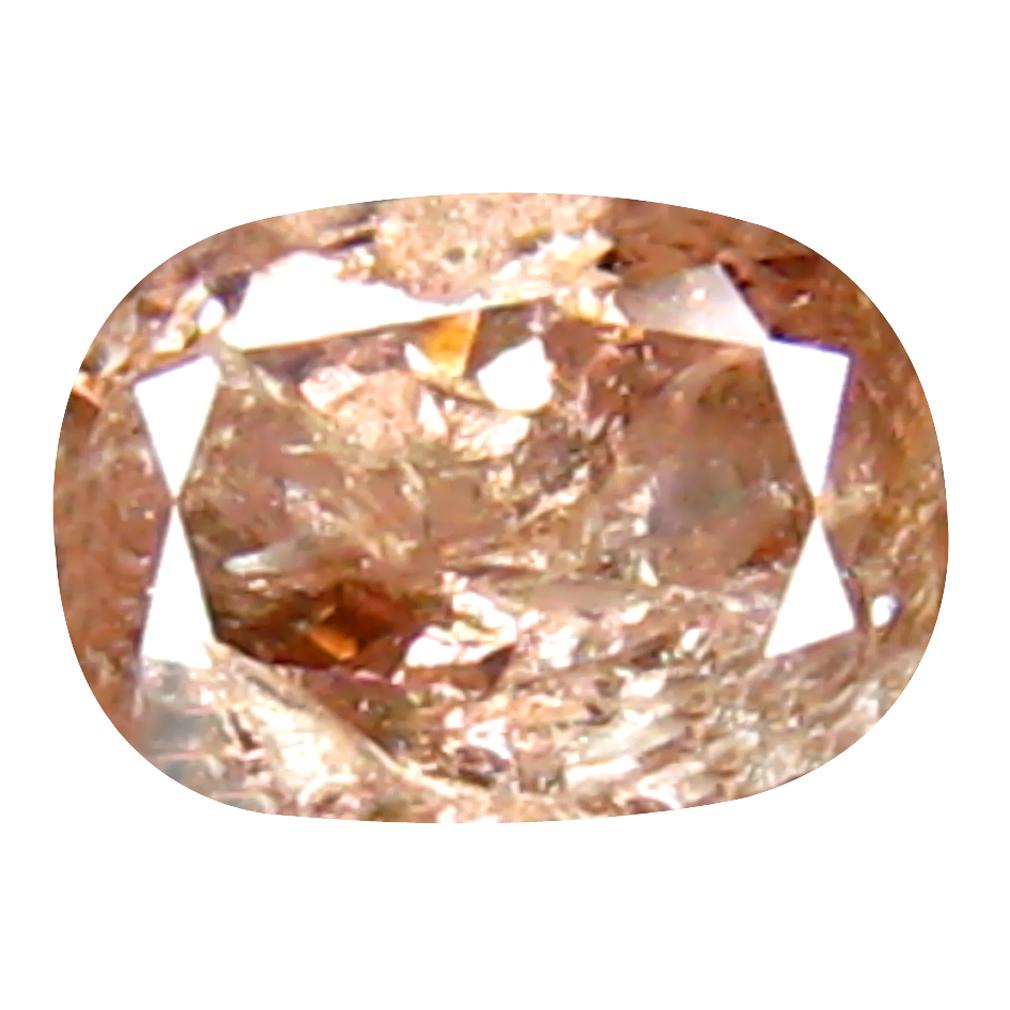 0.16 ct BEAUTIFUL CUSHION CUT (4 X 3 MM) CONGO FANCY PINK DIAMOND NATURAL GEMSTONE