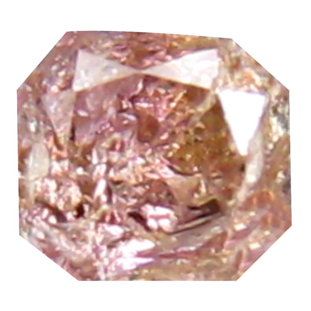 0.14 ct GRAND LOOKING OCTAGON CUT (3 X 3 MM) CONGO FANCY PINK DIAMOND NATURAL GEMSTONE