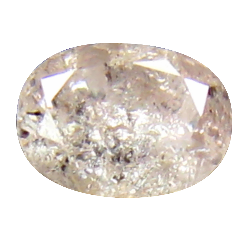 0.25 ct SPLENDID OVAL CUT (4 X 3 MM) CONGO FANCY LIGHT PINK DIAMOND NATURAL GEMSTONE