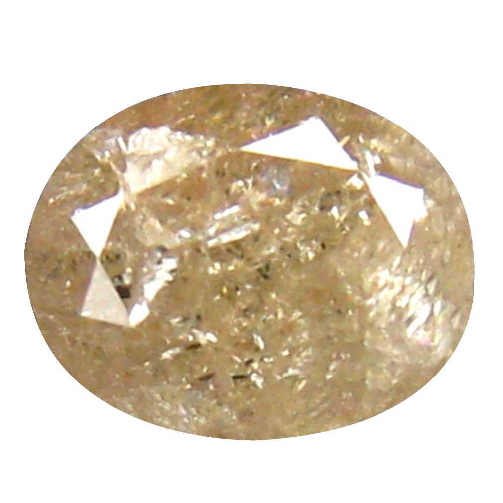 0.41 ct SPECTACULAR OVAL CUT (5 X 4 MM) CONGO FANCY LIGHT PINK DIAMOND NATURAL GEMSTONE