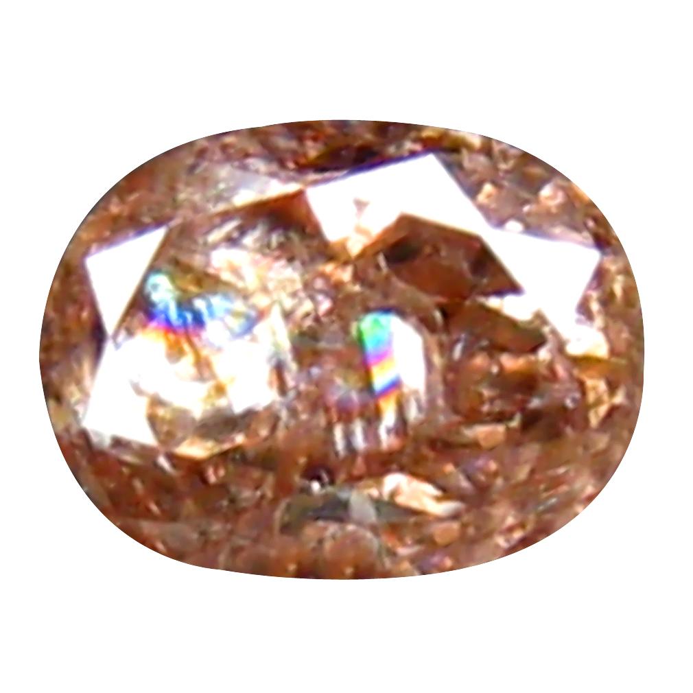 0.15 ct PREMIUM OVAL CUT (3 X 3 MM) CONGO FANCY PINK DIAMOND NATURAL GEMSTONE