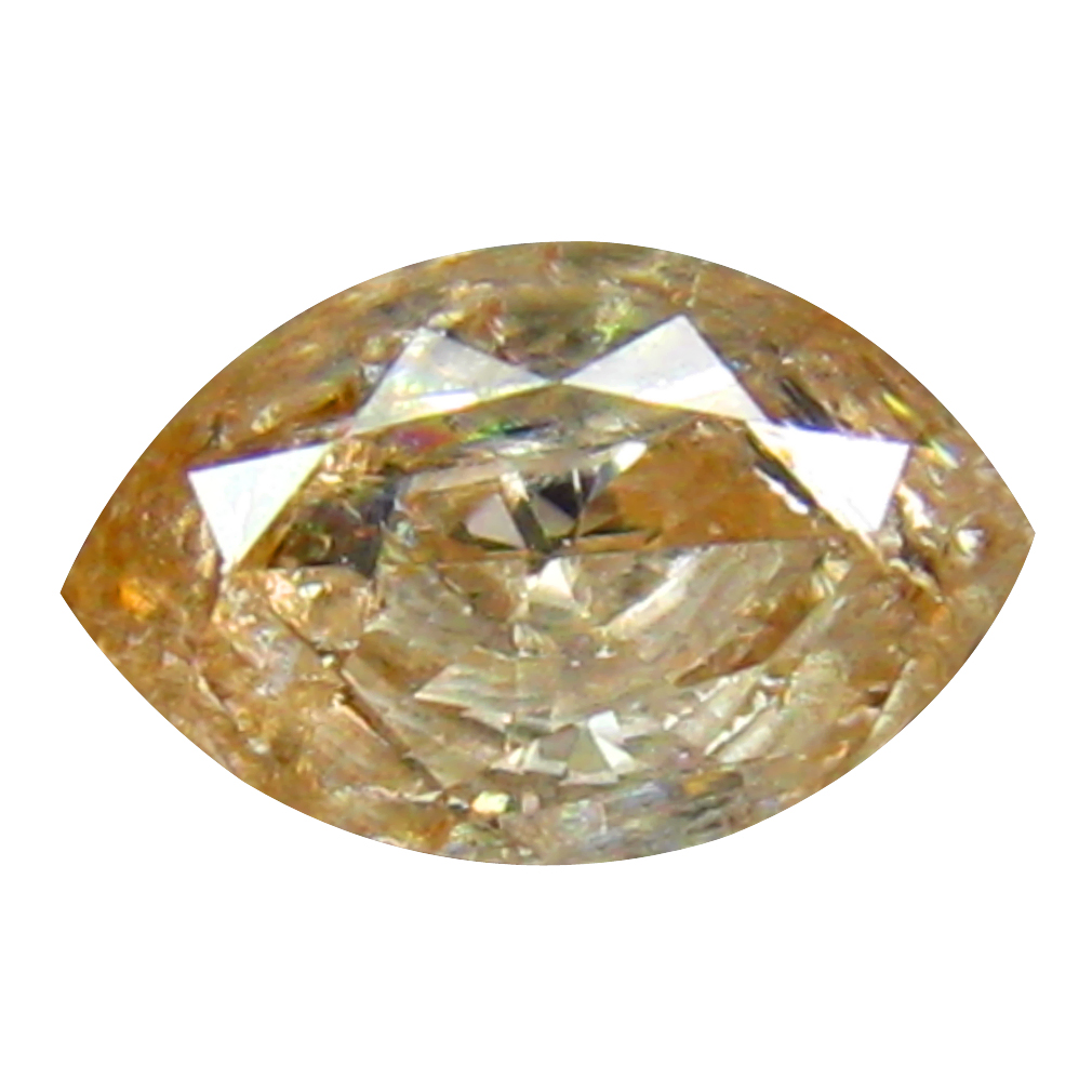 0.36 ct SUPER-EXCELLENT MARQUISE CUT (6 X 4 MM) CONGO FANCY BROWNISH PINK DIAMOND NATURAL GEMSTONE