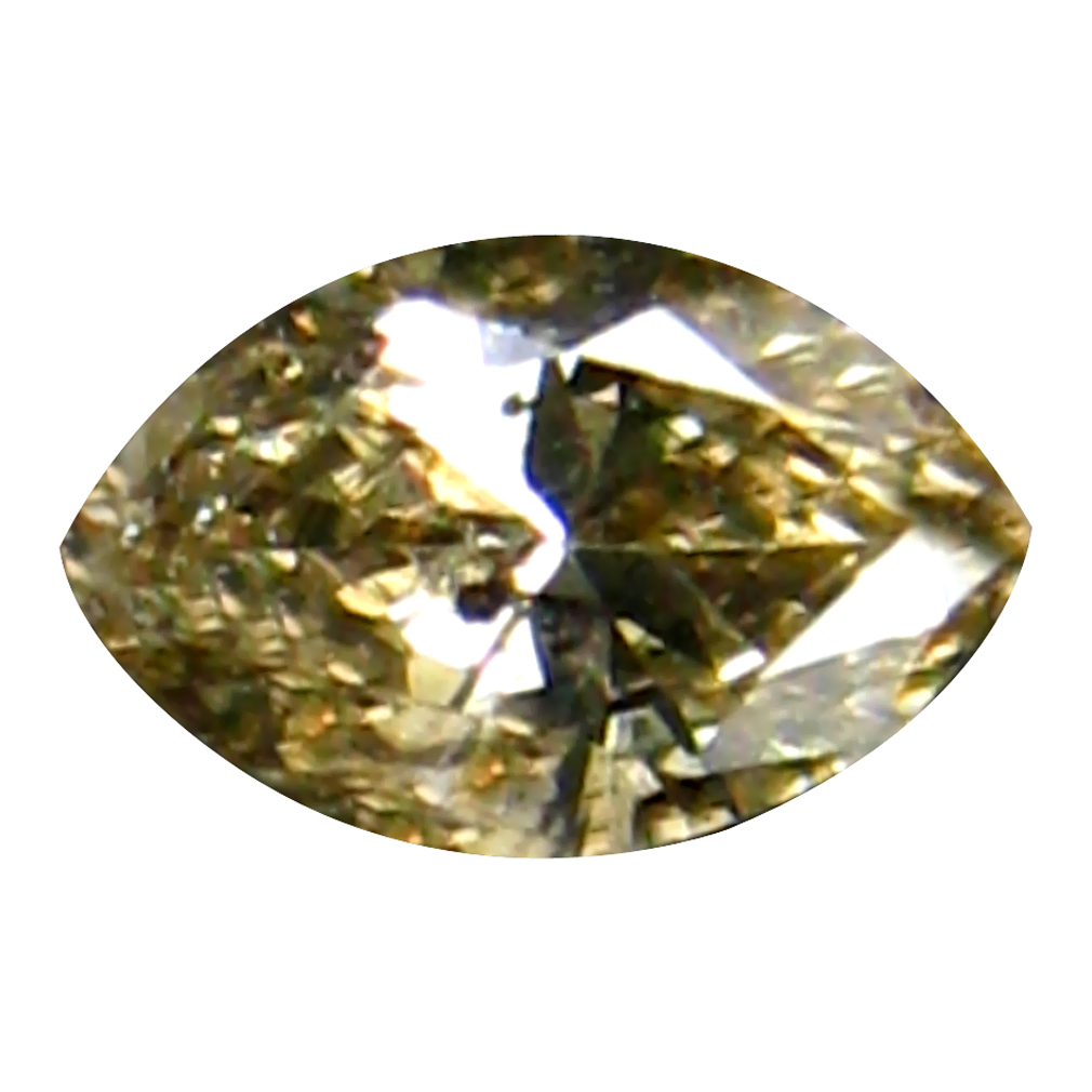 0.10 ct LOVELY MARQUISE CUT (4 X 2 MM) CONGO FANCY BROWN DIAMOND NATURAL GEMSTONE