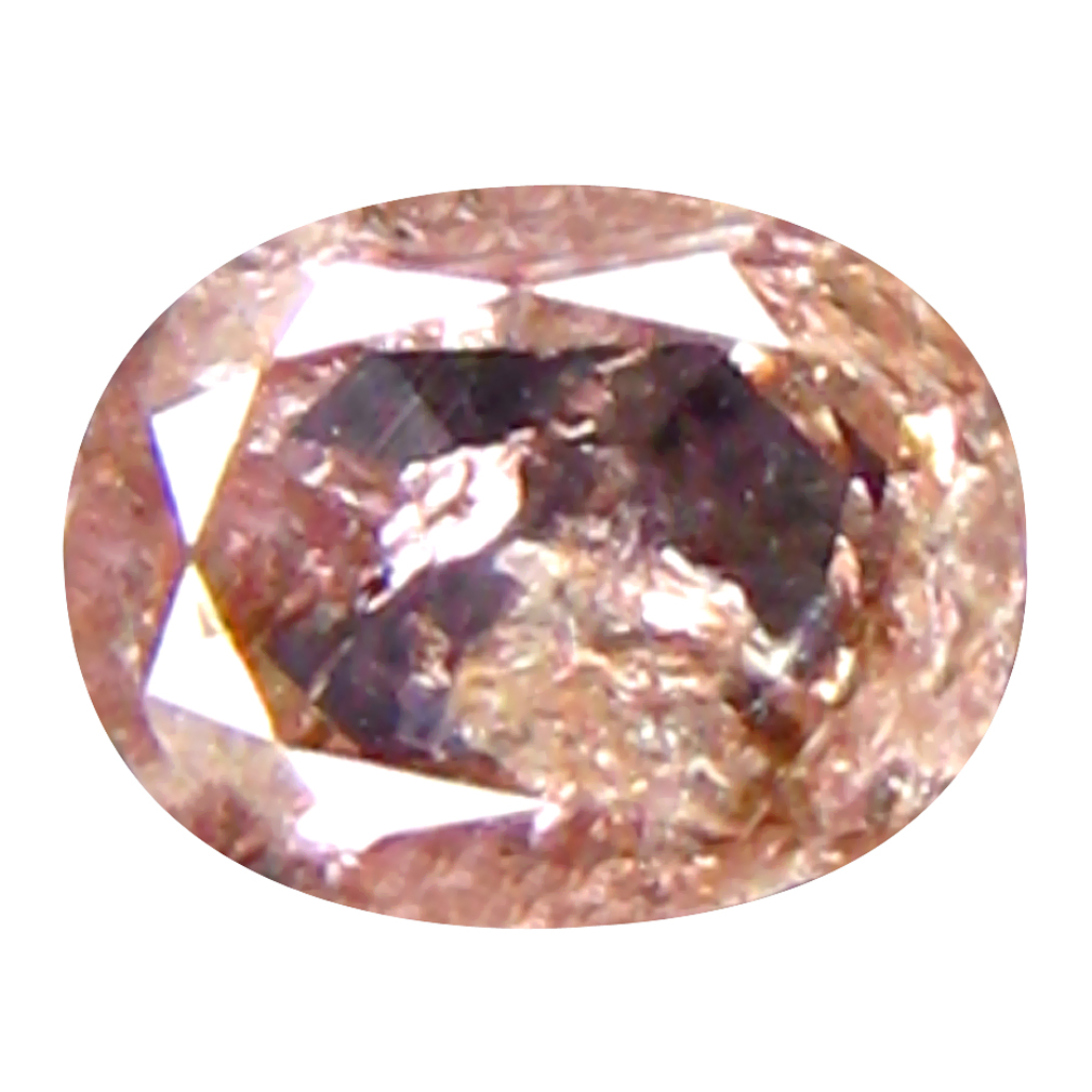 0.11 ct LOVELY OVAL CUT (4 X 3 MM) CONGO FANCY BROWNISH PINK DIAMOND NATURAL GEMSTONE