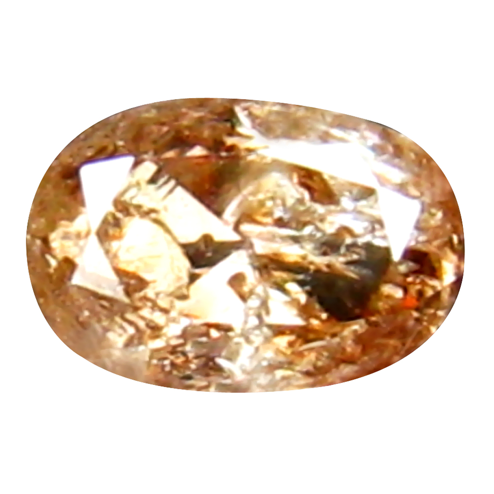 0.14 ct ATTRACTIVE OVAL CUT (4 X 3 MM) CONGO FANCY BROWNISH PINK DIAMOND NATURAL GEMSTONE