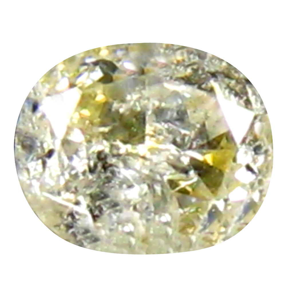 0.18 ct SPECTACULAR OVAL CUT (4 X 3 MM) CONGO FANCY LIGHT YELLOW DIAMOND NATURAL GEMSTONE