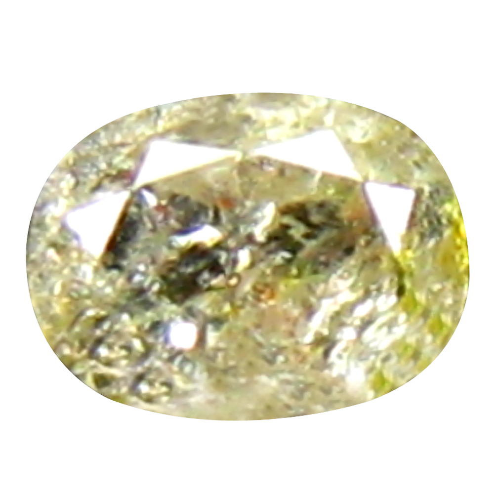 0.14 ct SUPERIOR OVAL CUT (3 X 3 MM) CONGO FANCY LIGHT YELLOW DIAMOND NATURAL GEMSTONE