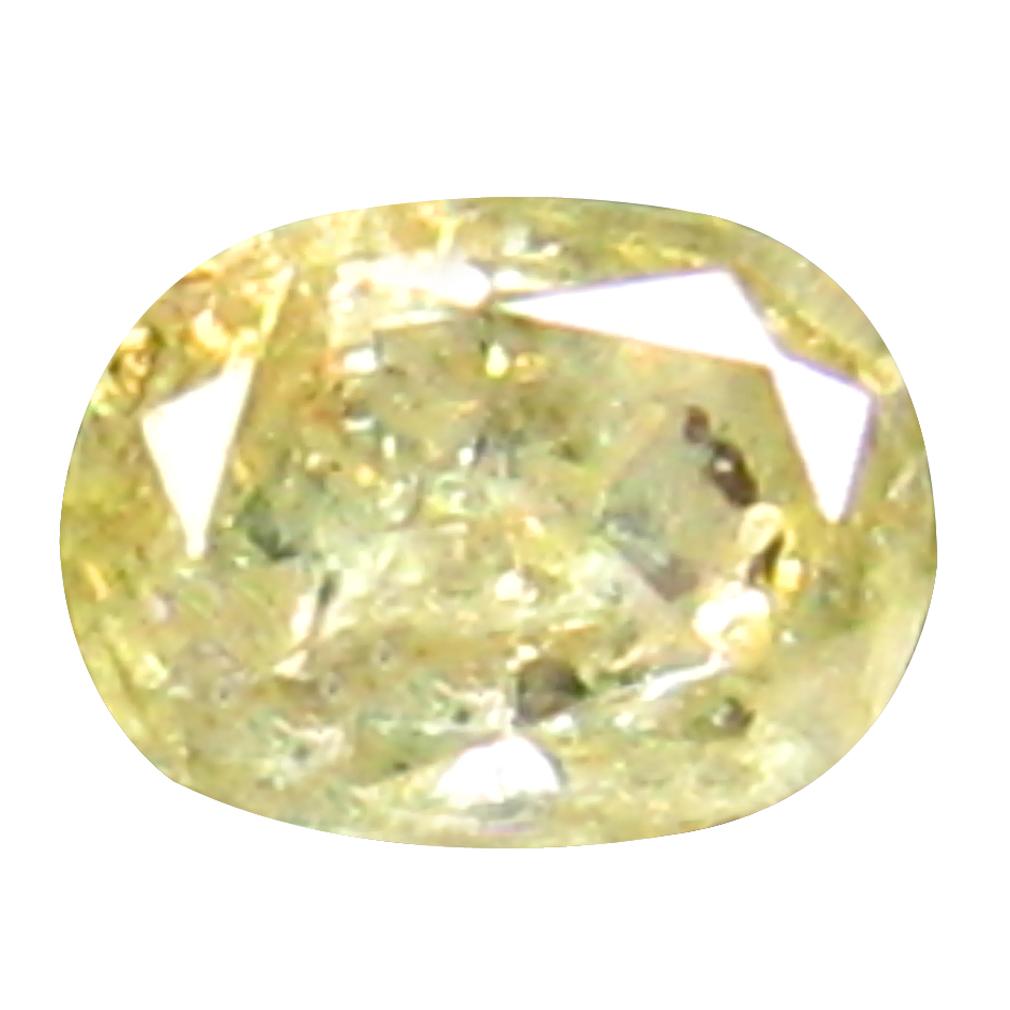 0.11 ct ROMANTIC OVAL CUT (3 X 2 MM) CONGO FANCY LIGHT YELLOW DIAMOND NATURAL GEMSTONE