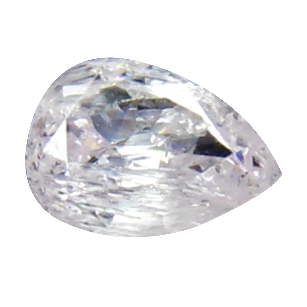 0.14 ct DAZZLING PEAR CUT (4 X 3 MM) CONGO FANCY LIGHT PINK DIAMOND NATURAL GEMSTONE